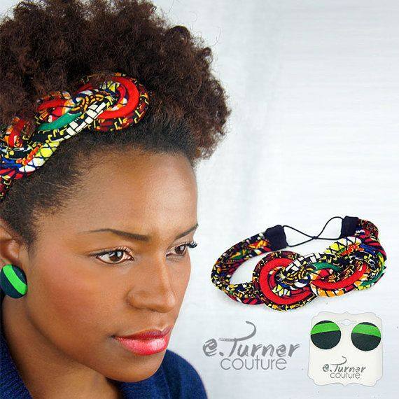 Multicolored Sailors Knot Headband  African by ETurnerCouture