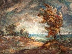 "Peter Hirsch (1889-1978), Ölgemälde, ""Einsamer Baum"", 1930er"