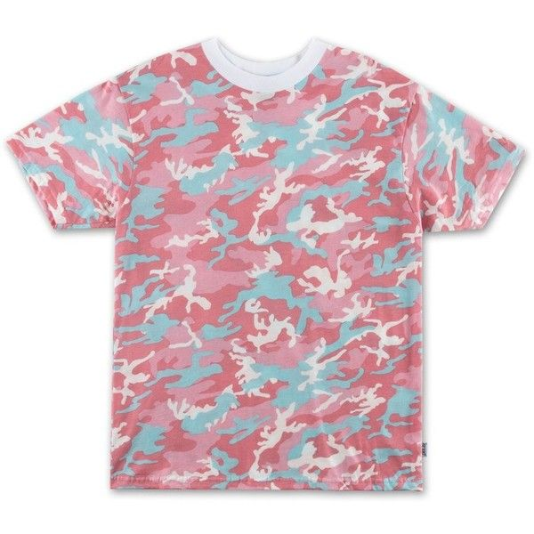Camo Tee Candy (€22) ❤ liked on Polyvore featuring tops, t-shirts, camouflage t shirt, red tee, red t shirt, cotton t shirts and camoflage t shirt