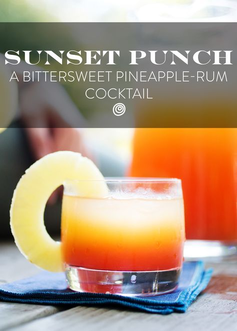 Pineapple Rum Sunset Punch