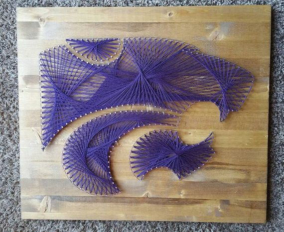 Kansas State University Wildcats Wood String Art Wall Home Decor Part 80