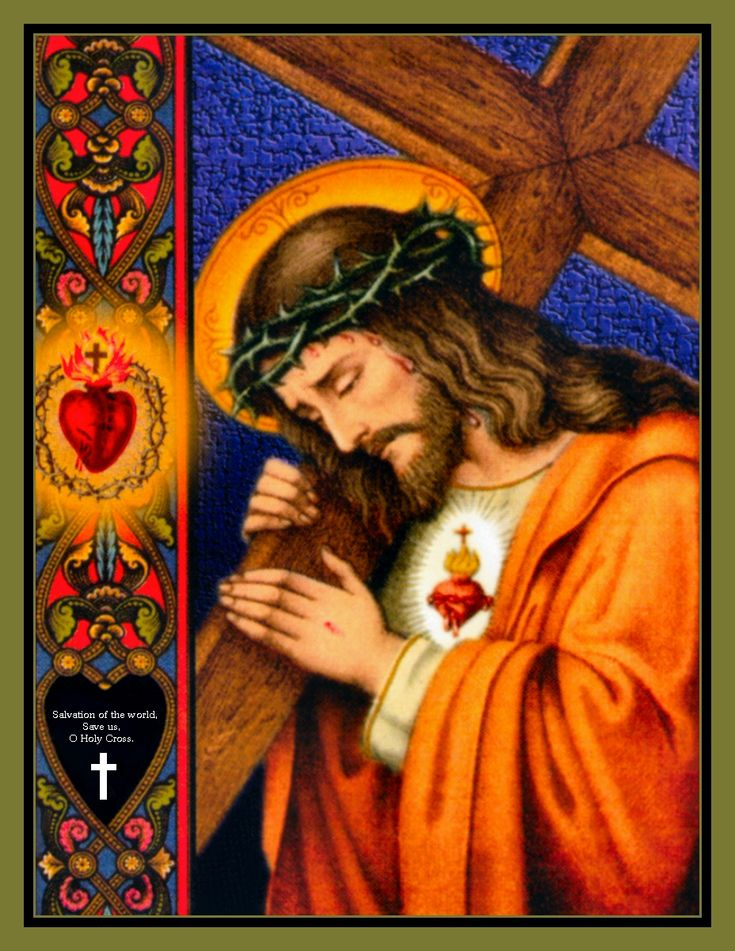 Salvation of the world, save us, O Holy Cross. {Christ carrying the Cross}