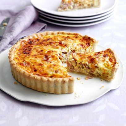 This is Mary Berry's Quiche Lorraine. A classic French dish from the queen of baking. For the full recipe and more, click on the picture or visit RedOnline.co.uk