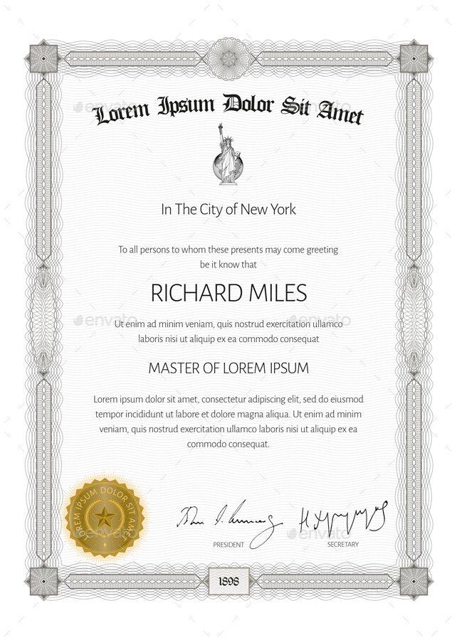 Certificate Portfolio Template Design Certificate Templates