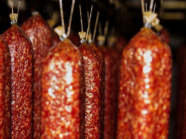 Колбаса варёно - копчёная !!! рецепт с фотографиями