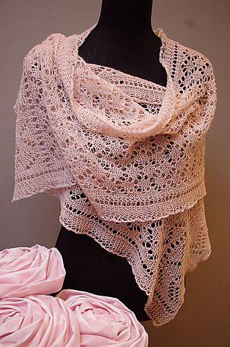 K4C Lace Shawl By Nancy van Aken - Free Knitted Pattern - (ravelry)