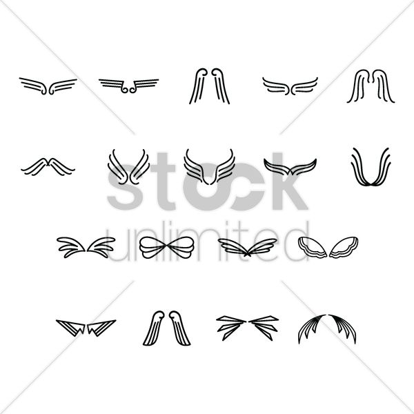 set of wings Stock Vector