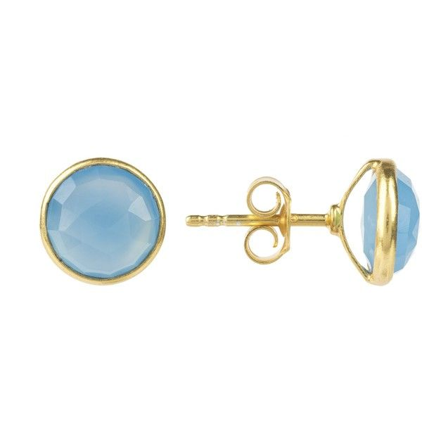 Medium circle stud gold blue chalcedony (3,195 PHP) ❤ liked on Polyvore featuring jewelry, earrings, earring jewelry, gold stud earrings, blue chalcedony earrings, blue earrings and stud earrings