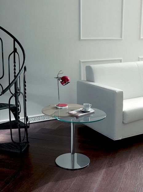 Tavolino da soggiorno Modello Duplo di Pozzoli Easyline, costituito da un doppio piano girevole sincronizzato e struttura in metallo cromato.   Finiture disponibili per il Piano Inferiore: Laccato Tortora Lucido, Legno Rovere Scuro. http://www.outletarredamento.it/complementi/pozzoli-tavolino-moderno-duplo.html#lightbox[gall #tavolino #soggiorno #offerteoutlet #outletarredamento