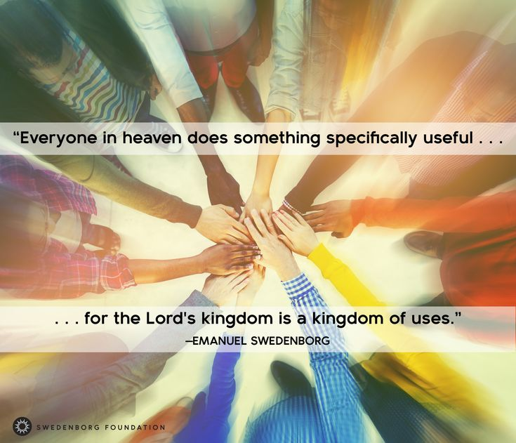 """""""Everyone [in heaven] does something specifically useful, for the Lord's kingdom is a kingdom of uses."""" —Emanuel Swedenborg, Heaven and Hell §387  To learn more about this idea, check out our Swedenborg and Life episode, """"A Day in the Life of an Angel"""" here: https://www.youtube.com/watch?v=D3BmPm7DPv0"""