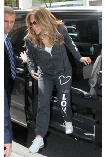 Jennifer Lopez Stepping Out In A Peace Love World Tracksuit
