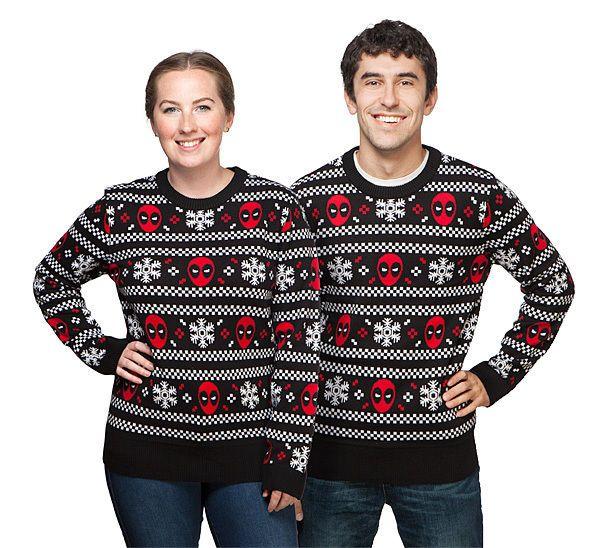 Marvel Deadpool & Snowflakes Sweater Mighty Fine Unisex DEADPOOL SWEATER Marvel #Deadpool #Sweater