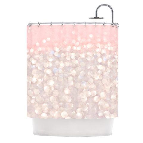 "Debbra Obertanec ""Magical"" Pink Glitter Shower Curtain | KESS InHouse"