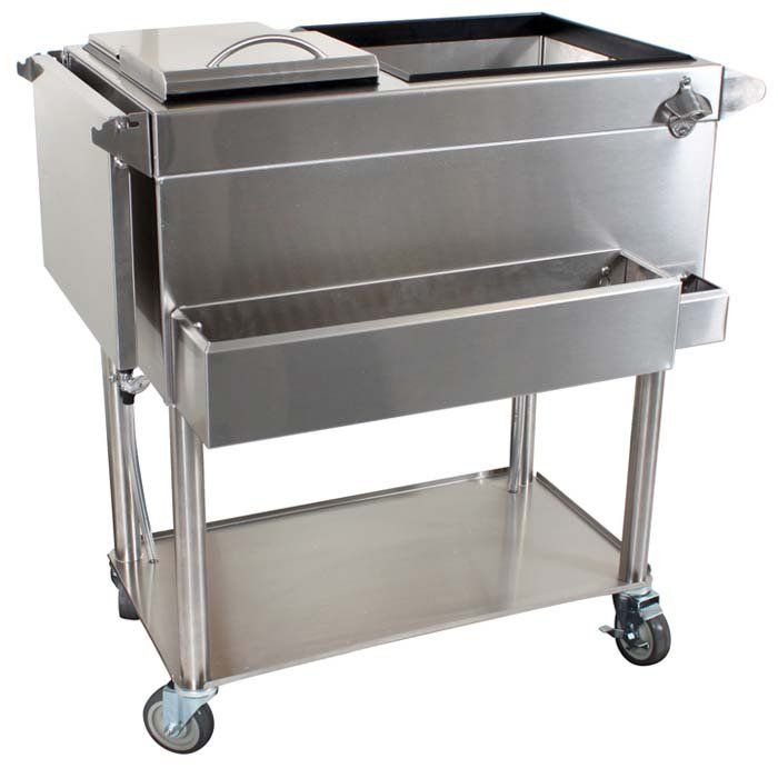 15 Most Outrageous Outdoor Kitchen Sink Station Ideas: Portable Home Cocktail Station Cart At Brookstone—Buy Now