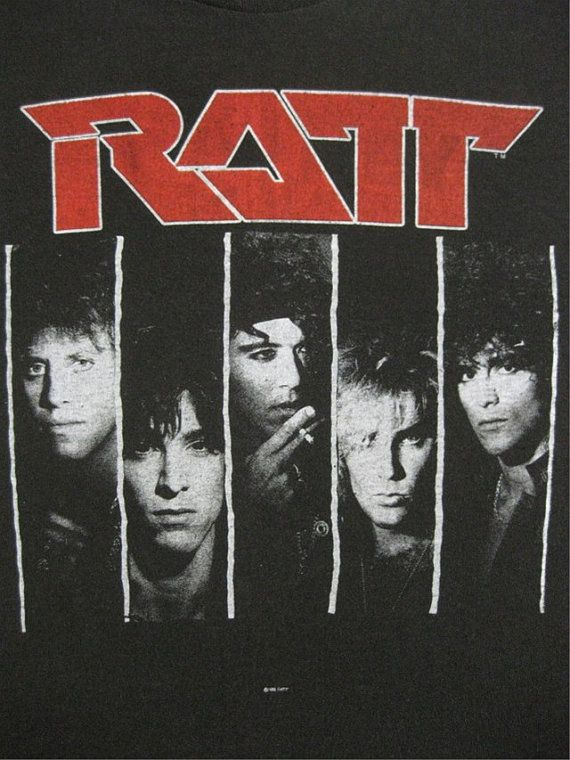 This was my favorite t-shirt in 1987!  Original RATT vintage 1987  tour SHIRT by rainbowgasoline on Etsy, $125.00