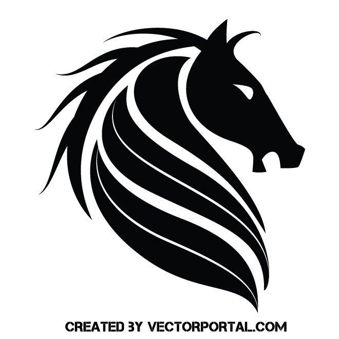 Black Horse Vector Logotype Black Horse Horse Illustration Vector Free