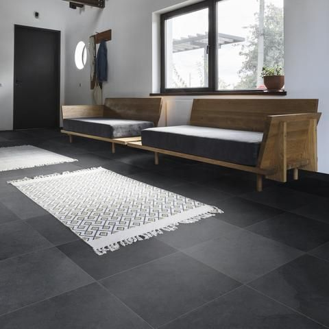 Cle Slate Large Field Tile 24 X24 X3 8 In 2020 Grey Floor