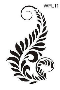 stencil flowers designs - Google Search