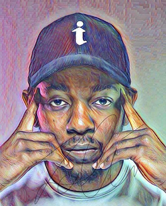 Kendrick Lamar Inspired PRINT Coloured Pencil Drawing Sketch   Etsy    Drawing prints, Hip hop artwork, Drawings