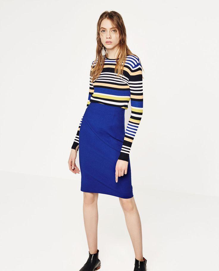 MULTICOLORED STRIPED SWEATER-Sweaters-KNITWEAR-WOMAN   ZARA United States