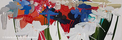 Sophie Paquet, 'So in Love with You!', 20'' x 60'' | Galerie d'art - Au P'tit Bonheur - Art Gallery