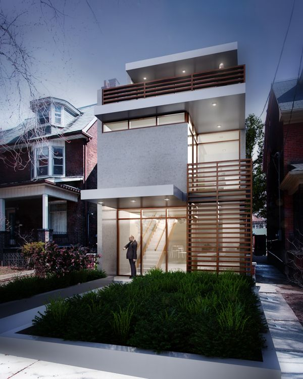 Narrow house 25 pinterest Modern house website