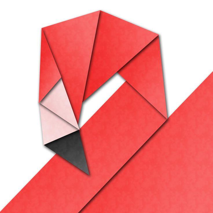 origami flamingo: Origami