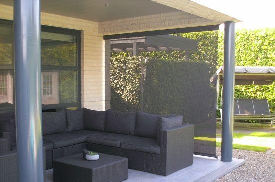 Verticaal windscherm onder veranda | Trendo Externo Buitenleven - Trendo Externo | Buitenleven