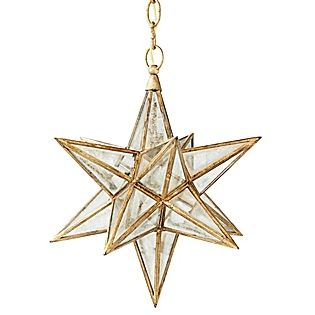 Moravian Star Glass Pendant