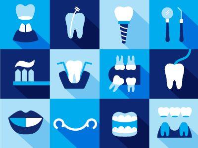 Dentistry iconography by Natalia Padilla