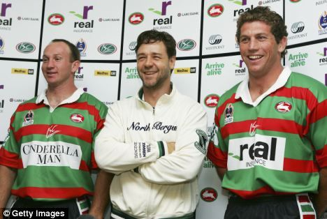 Russell Crowe and his Rabbitohs