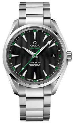 231.12.42.21.01.004 NEW OMEGA SEAMASTER AQUA TERRA MASTER CO-AXIAL 41.5MM GOLF EDITION MENS LUXURY WATCH IN STOCK - Click to View our Doorbuster Watch Specials! - FREE Overnight Shipping | Lowest Price Guaranteed - No Sales Tax (Outside California)- With Manufacturer Serial Numbers- Black Dial with Green Accents- Date Feature- Anti-Magnetic Feature- 60 Hour Power Reserve- Self Winding Automatic Master Co-Axial Escapement Movement- Omega Caliber 8500- 5 Year Warranty - Guaranteed Aut...