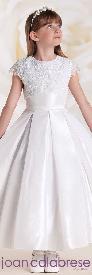 Joan Calabrese for Mon Cheri - Style No. 115314  #flowergirldresses calabresegirl.com