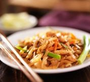 Thai Stir-Fried Noodles with Chicken ('Pad Thai Gai'): Thai Noodles with Chicken - a simple and yummy everyday dish!  We really enjoyed the stirfry sauce!!!!