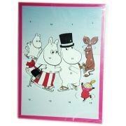 Muumi Adventtikalenterin avulla joulu tulee joutuisammin. Muumi-Joulukalenterista saat joulukuun ensimmäisestä päivästä alkaen pienen suklaisen yllätyken jokaisena päivänä aina jouluaattoon asti.