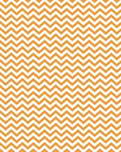 Free printable - orange party chevron