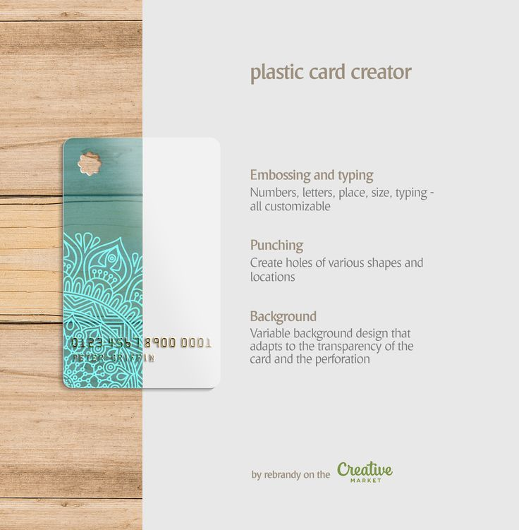 Plastic Card Creator – crmrkt.com/o097O   #card #cards #creditcard #carddesign #…