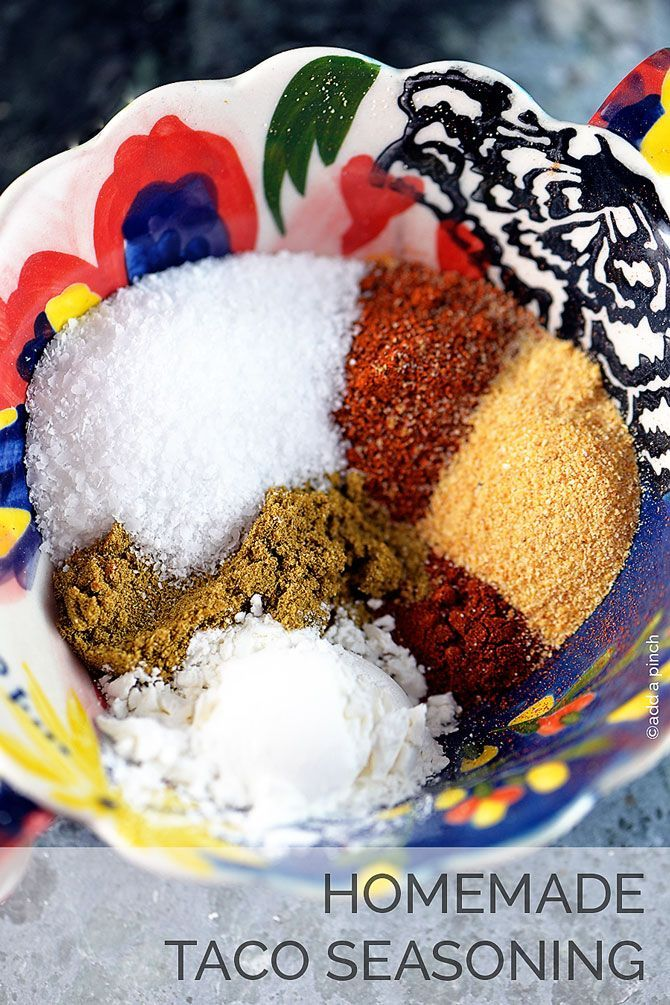 Homemade Taco Seasoning Recipe - So EASY to make your own seasoning from scratch! I love knowing what ingredients are in my seasoning!  from addapinch.com