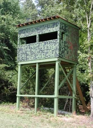 Elevated Deer Blind Deer Stand Plans Deer Hunting