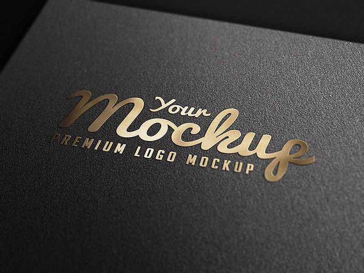 Gold Stamping Logo Mockup Psd Logo Mockup Free Logo Mockup Psd Mockup