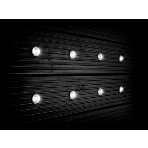 Large image of 30mm White LED Deck Lights Pack of 8 - opens in a new window