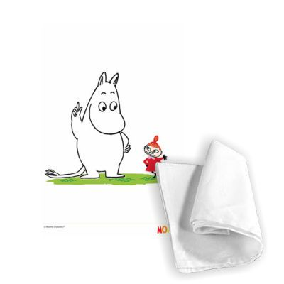 Moomin Tea Towel by Tove Jansson   on StarEditions.com - Wholesale Prints and Gifts
