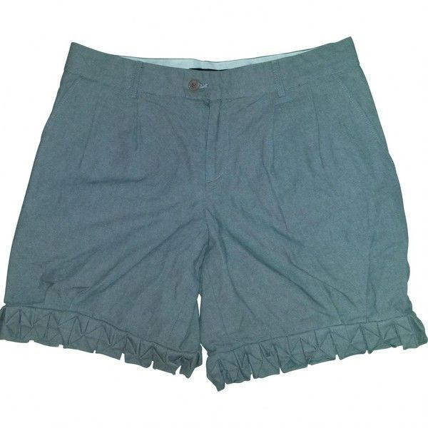 Pre-owned American Retro Grey Cotton Shorts ($40) ❤ liked on Polyvore featuring grey, women clothing shorts, grey shorts, grey cotton shorts, cotton shorts, american retro and gray shorts