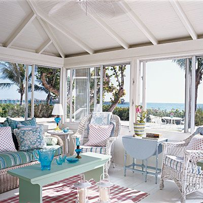 Get away =)Beach House, Beach Cottages, Sunrooms, Interiors Design, Coastal Room, Coastal Style, Coastal Living, Porches, Sun Room