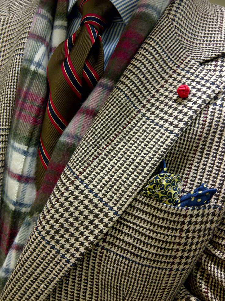 Pops of plaid and color