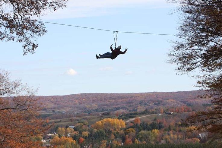 Ziplining at Boyne Mountain Resort, Boyne Falls, Michigan.  I'm going to do it this summer!! #Boyne