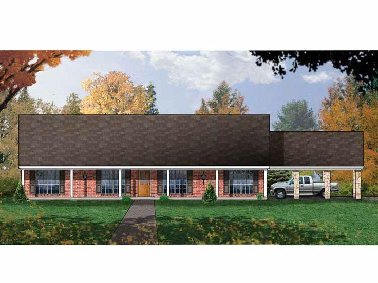 simple rectangular ranch house plan Expansive OneStory