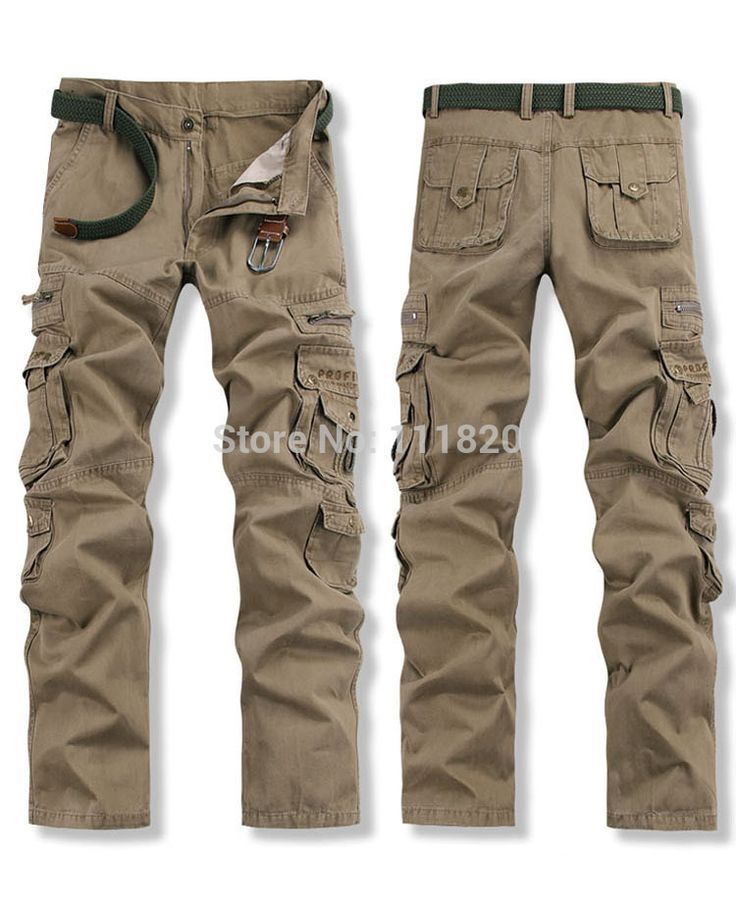 OVERALLS Tactical PANTS Military Army PANTS 100% Cotton Jogging Drop crotch pants Men Work Pants Size 28-38