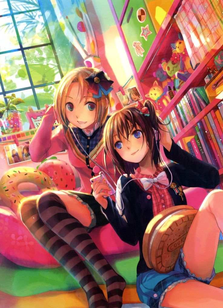Image Result For Cute Anime Best Friends Picture Hd Wallpaper Cute