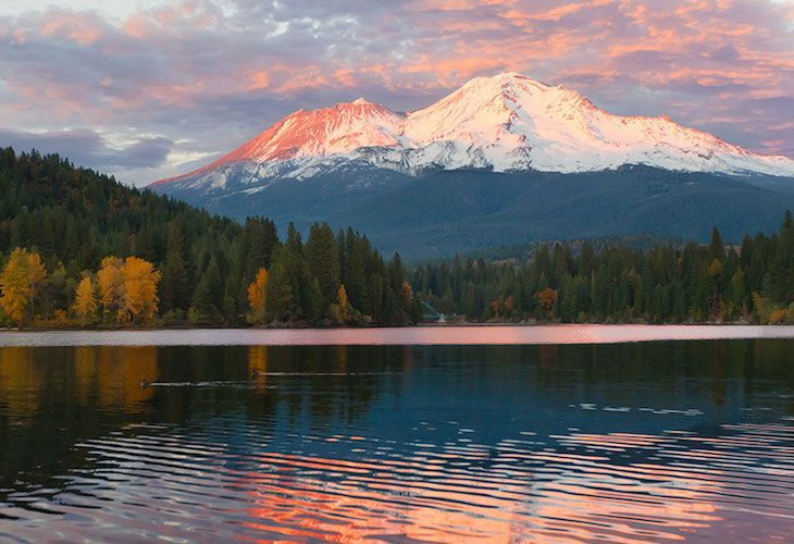Mount Shasta is an active volcano in California, but its beauty is a sight to behold. Many say that it's more than just breathtaking; the mountain and surrounding area offers a spiritual experience like no other.